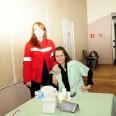 Od lewej pani Katarzyna i pani Magdalena - medyczna obsługa spotkania