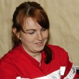 Pani Katarzyna jest ratownikiem medycznym. Mierzyła ciśnienie uczestnikom spotkania