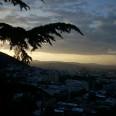 Tbilisi, widok wieczorem.