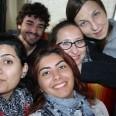 W drodze do Saulai, z wolontariuszami z Armenii i Francji.