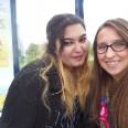 """Ostatni dzień pracy z Anną, drugą wolontariuszką z Grecji. Zdjęcie wykonane na """"naszym"""" przystanku Kaimelio. :)"""