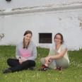 Z Marysią, przyjaciółką ze studiów. Nic nie cieszy bardziej jak odwiedziny znajomego z kraju ojczystego!  :)